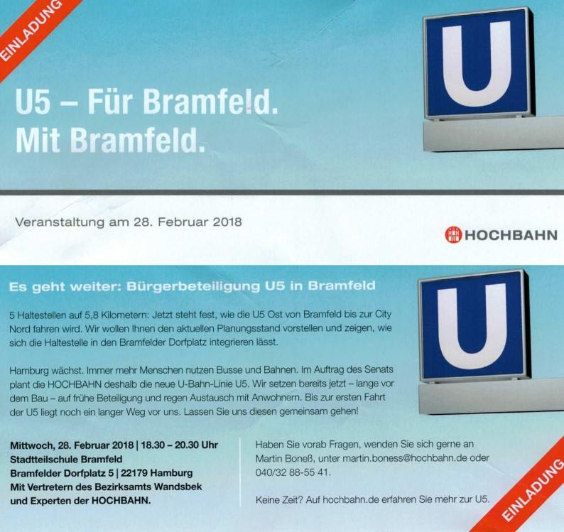 U5 - Für Bramfeld. Mit Bramfeld. @ Stadtteilschule Bramfeld | Hamburg | Hamburg | Deutschland