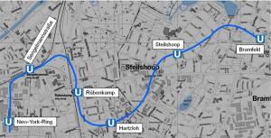 Karte_UBahn_U5_Machbarkeitsstudie_U5-Ost_Copyright_Hochbahn